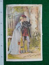 1870s-80s White Sewing Machines Couple in Forest Victorian Trade Card F29
