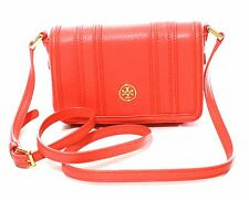 BNWT Ladies Tory Burch Landon Mini Cross-body Bag RRP £275 Leather Poppy Coral