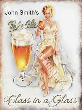 Vintage Drink John Smith's Pale Ale Girl Beer Bar Pub Cafe Novelty Fridge Magnet
