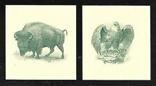 Engravings - Set of Four (4) Intaglio prints/vignettes - Mint condition