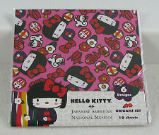 Hello Kitty 40th JANM Origami 18 Sheets Kokeshi Kimono Doll Japan Museum Sealed