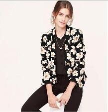 NWT Ann Taylor LOFT Floral Open Jacket Sz M  $98.00  Black & Cream