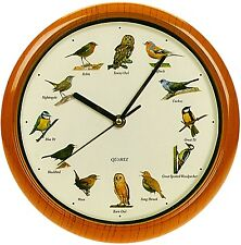 Singing Birds Wall Clock Bird Sounds Every Hour 12 Songs Nocturnal Sleep Mode