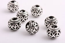 20 pieces Tibetan silver Peace Sign Spacer beads Bracelets necklaces Charms 11mm