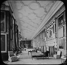 Glass Magic Lantern Slide PICTURE GALLERY HARDWICK HALL C1890 ENGLAND PHOTO