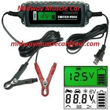 MULTI-STAGE MULTI VOLTAGE 6 and 12 Volt BATTERY STORAGE MAINTENANCE CHARGER  LCD