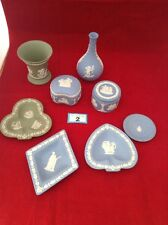 Wedgwood Sage Green  And Blue Jasper Ware Job Lot Plate Trinket Vase Dish