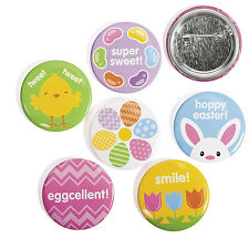 24 CUTE Easter Buttons Egg Hunt Basket Filler BUNNY FLOWERS CHICK JELLY BEANS