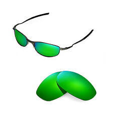 New Walleva Polarized Emerald Replacement Lenses For Oakley Tightrope Sunglasses