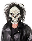 MENS SCARY ZOMBIE DEVIL SKULL FACE MASK DELUXE LATEX FANCY DRESS HALLOWEEN NEW