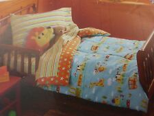 4 pc Circo Animal Friends Train Collection Toddler Bed Set NIP