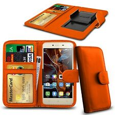 For Micromax Canvas Juice 3 Q392 - Clamp Style PU Leather Wallet Case Cover