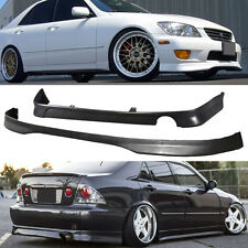 NEW 01-05 IS300 PU URETHANE TR FRONT + J REAR BUMPER LIP SPOILER BODY KIT
