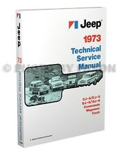 1973 Jeep Repair Shop Manual 73 CJ5 CJ6 Wagoneer Commando Truck DJ5 DJ6 Service