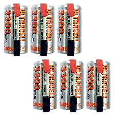 6 x Sub C 1.2V Volt 3300mAh NiMH Rechargeable Battery With Tabs Ultracell