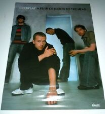 COLDPLAY~A Rush Of Blood To The Head~Promo Poster Poster~2 Sided~18x24~2002