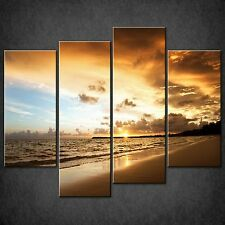 CARIBBEAN SEA BEACH SPLIT CANVAS WALL ART PICTURES PRINTS LARGER SIZES AVAILABLE