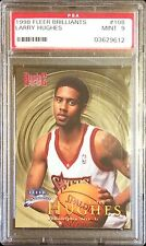 LARRY HUGHES 1998 FLEER BRILLIANTS RC ROOKIE PSA 9