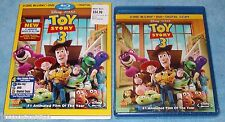 Disney*PIXAR's TOY STORY 3 (2010) 4 Disc Blu-Ray/DVD/DIGITAL Combo NEW R1