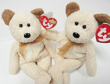 "Ty-Beanie Baby ""Huggy""  CREAM Bear PRISTINE New in Mint Condition w/Mint tags"