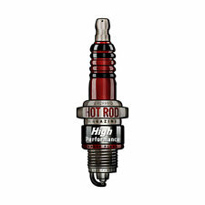Hot Rod Magazine Spark Plug Zündkerze High Performance Sign Blechschild Schild