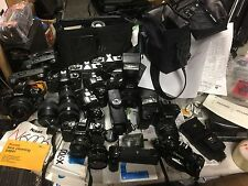 Lot Of Film Cameras Pentax K1000 Canon A-1 Nikon N6006 N50 Minolta X-700 & More