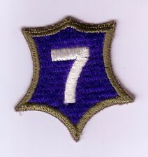 "WWII - 7th US ARMY CORPS ""1st Design"" Od Border (Original patch)"