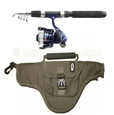 NGT Namazu Mini Travel Telescopic Holiday Fishing Rod & Reel Combo with Bag