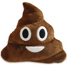 """NEW Big 12"""" Stuffed Pillow Cushion Emoji Poop Shaped Smiley Face Doll Toy PILLOW"""