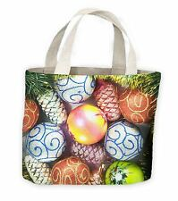 Christmas Baubles Tote Shopping Bag For Life - Gift Present
