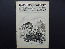 "HARPER'S WEEKLY, Front Page #50 Feb 1876 ""Amnesty""; The End of the Peacful Tiger"