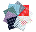 "40 Charm Pack Pre-Cut Polka Dots 5x5"" 100% Cotton Quilt Fabric Craft"
