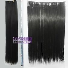 Black Hair Weft Extention (3 pieces) - 60cm High Temp - Cosplay 7_001
