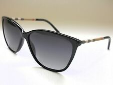 Authentic BURBERRY BE4117 3001T3 Black/Gray Polarized 58mm Sunglasses