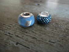 PERSONA STERLING SILVER EUROPEAN 925 CHARM BEADS LOT OF 2