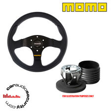 MOMO TEAM 280 STEERING WHEEL & BOSS HUB KIT FOR VW Audi Seat Porsche Pre 1990