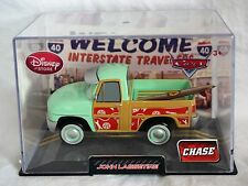 Disney Store Pixar Cars CHASE John Lassetire Die Cast Car 1:43 Scale Hard Case