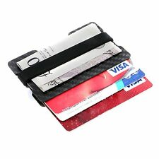 Carbon Fibre RFID Slim Front Pocket Wallet Money Clip Credit Note Card Holder ID