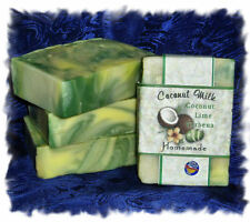 Handmade/Homemade Coconut Milk Soap _ Coconut Lime Verbena _  Made in Montana