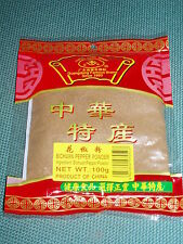 Sichuan SZECHUAN PEPPER Powder 100g chino asiático entero Especias De Cocina Ingrediente