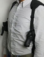 New 1PC Military Black Tactical /Gun Holster with mag pouch Adjustable Shoulder