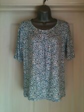MARKS & SPENCER TURQUOISE MIX CLASSIC TOP SIZE 8. (will fit 10-12)