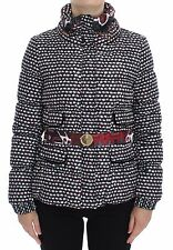 NWT $650 CAVALLI CLASS  Multicolor Puffer Parka Belt Jacket Coat IT42 / US6 / S