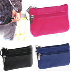Women Men Soft Leather Zip Coin Purse Mini Money Wallet Key Pouch Gift Purse