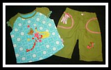 OILILY Summer of Love Embroidered Summer Capri Pants/Top Set Girl Sz 86 18-24 M