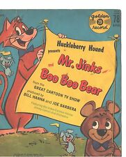 HUCKLEBERRY HOUND/MR.JIKNKS & BOO BOO BEAR CHILDREN'S PICTURE SLEEVE ONLY--PS-