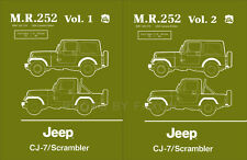 1984 1985 1986 Jeep CJ7 and Scrambler Repair Shop Manual CJ 7 Renegade Laredo