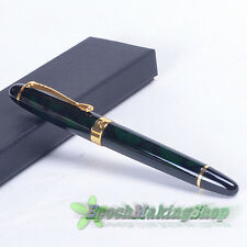 JINHAO X450 DELUXE GREEN MARBLED M nib FOUNTAIN PEN free shipping
