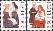Estonia 1996 trajes tradicionales/Ropa/Textil/Diseño/Heritage 2v Set ee1120