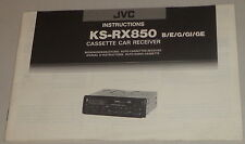 Manuale di istruzioni/operating instructions JVC autoradio ks-rx850 B/E/G/GI